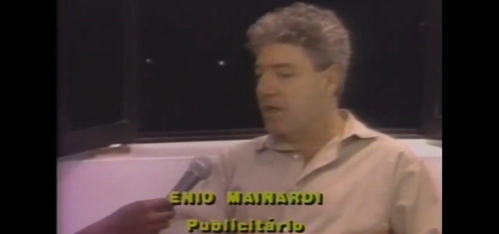 'Preto desvaloriza o produto anunciado', disse publicitário Ênio Mainardi em 1988
