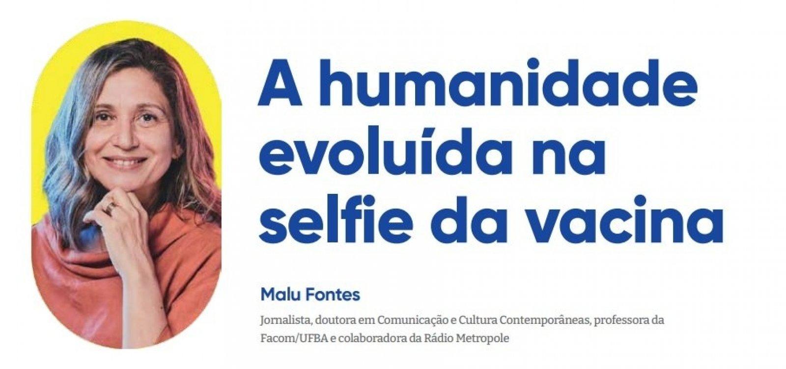 A humanidade evoluída na selfie da vacina