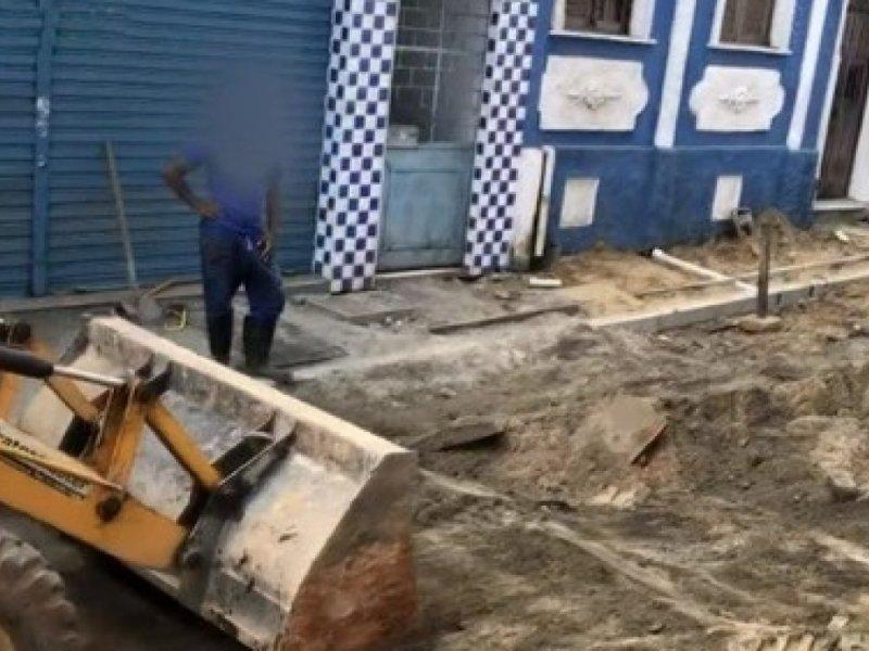 Depois de 7 meses de 'roubo dos fios', Conder promete prazo para obra no Santo Antônio