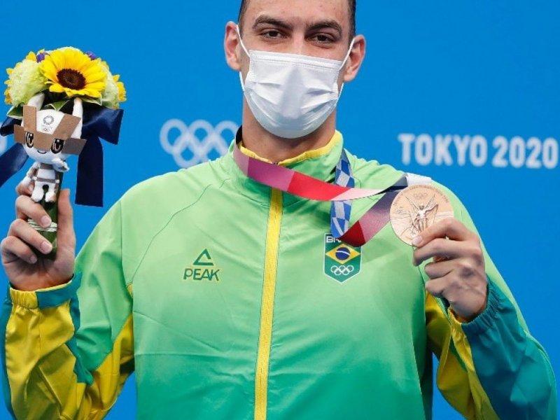 Depois de jejum em 2016, Natação brasileira ganha medalha de bronze em Tóquio