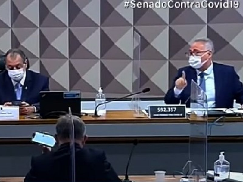 """""""Vagabundo"""", """"ladrão"""", """"picareta"""": senadores trocam farpas durante CPI; veja vídeo"""