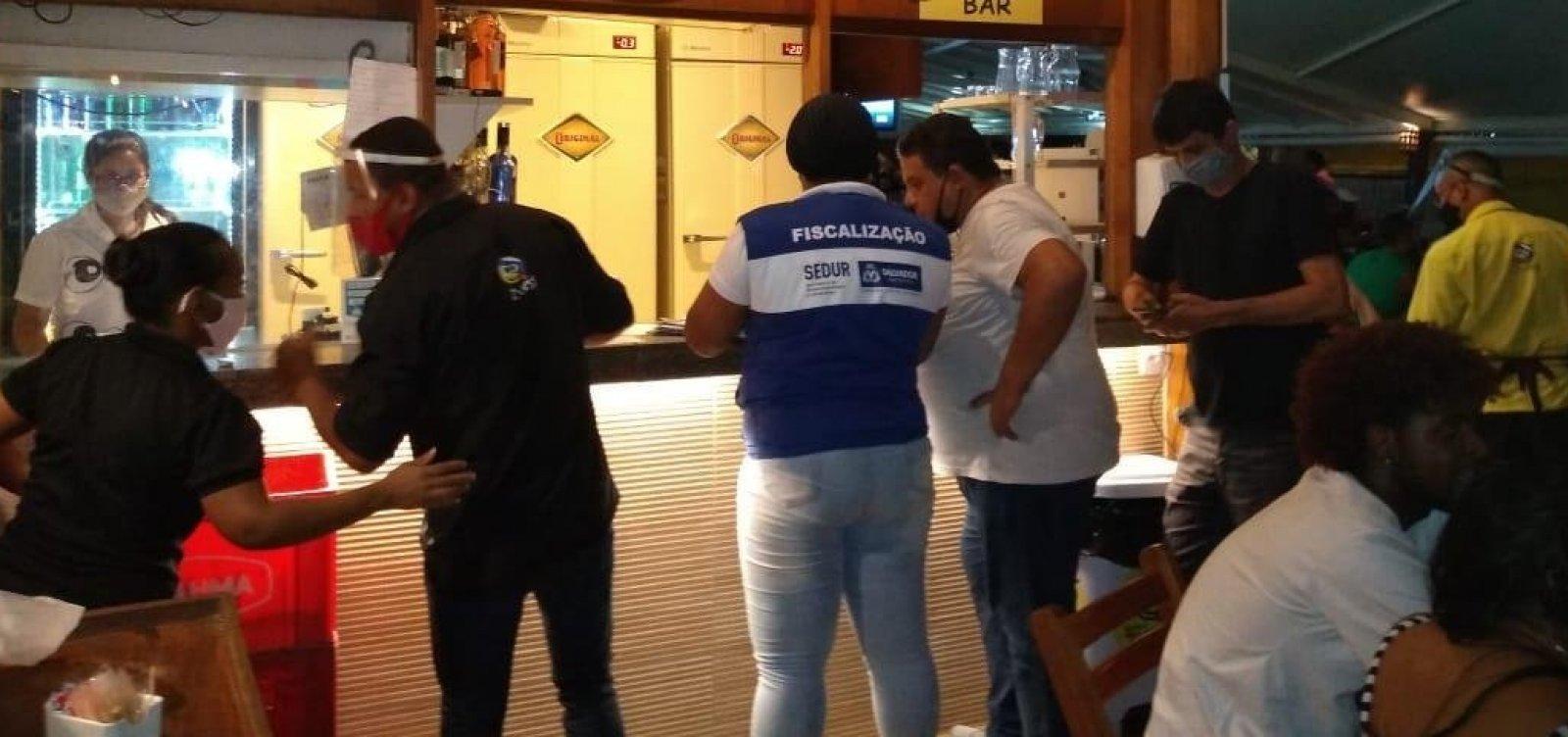 Sedur interdita quatro bares e dispersa aglomeração na Pituba e Calabetão