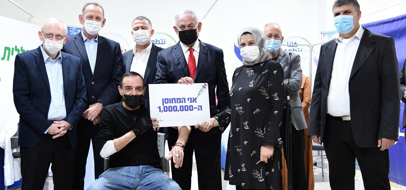 Israel atinge a marca de 1 milhão de cidadãos vacinados contra a Covid-19