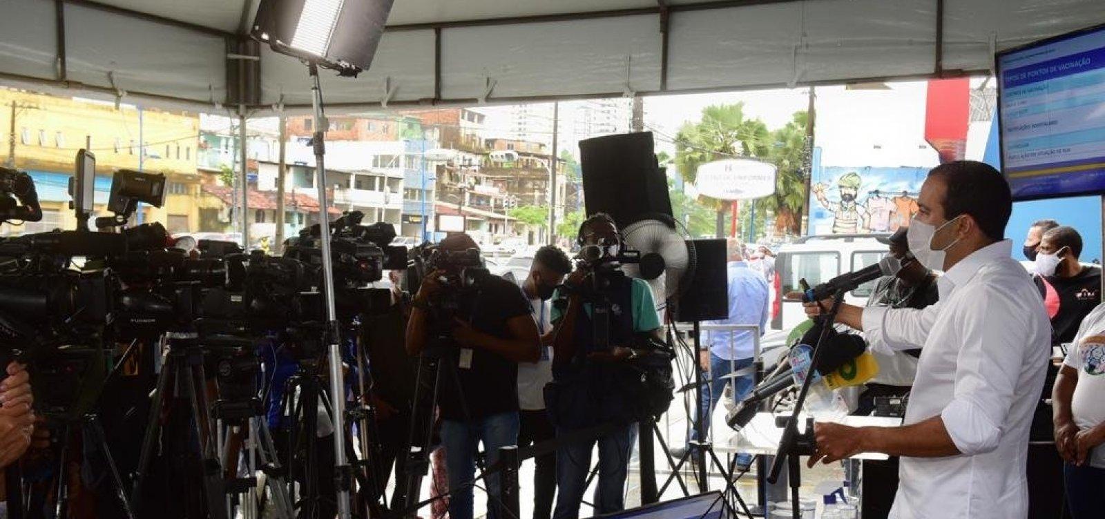 Salvador quer começar vacinação 48 horas após receber doses da União