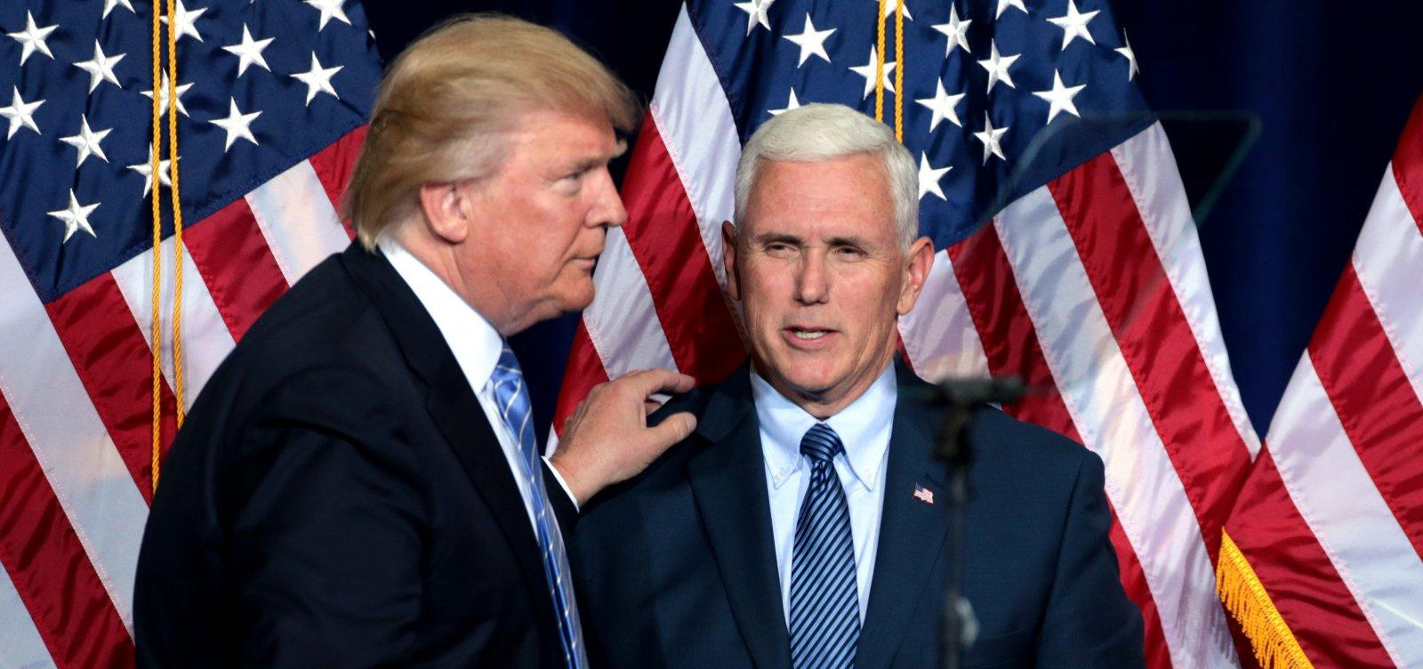 Vice de Trump afirma que não invocará emenda que retira presidente do cargo