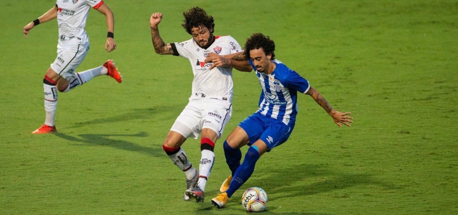 Vitória arranca empate com o Avaí fora de casa na Série B