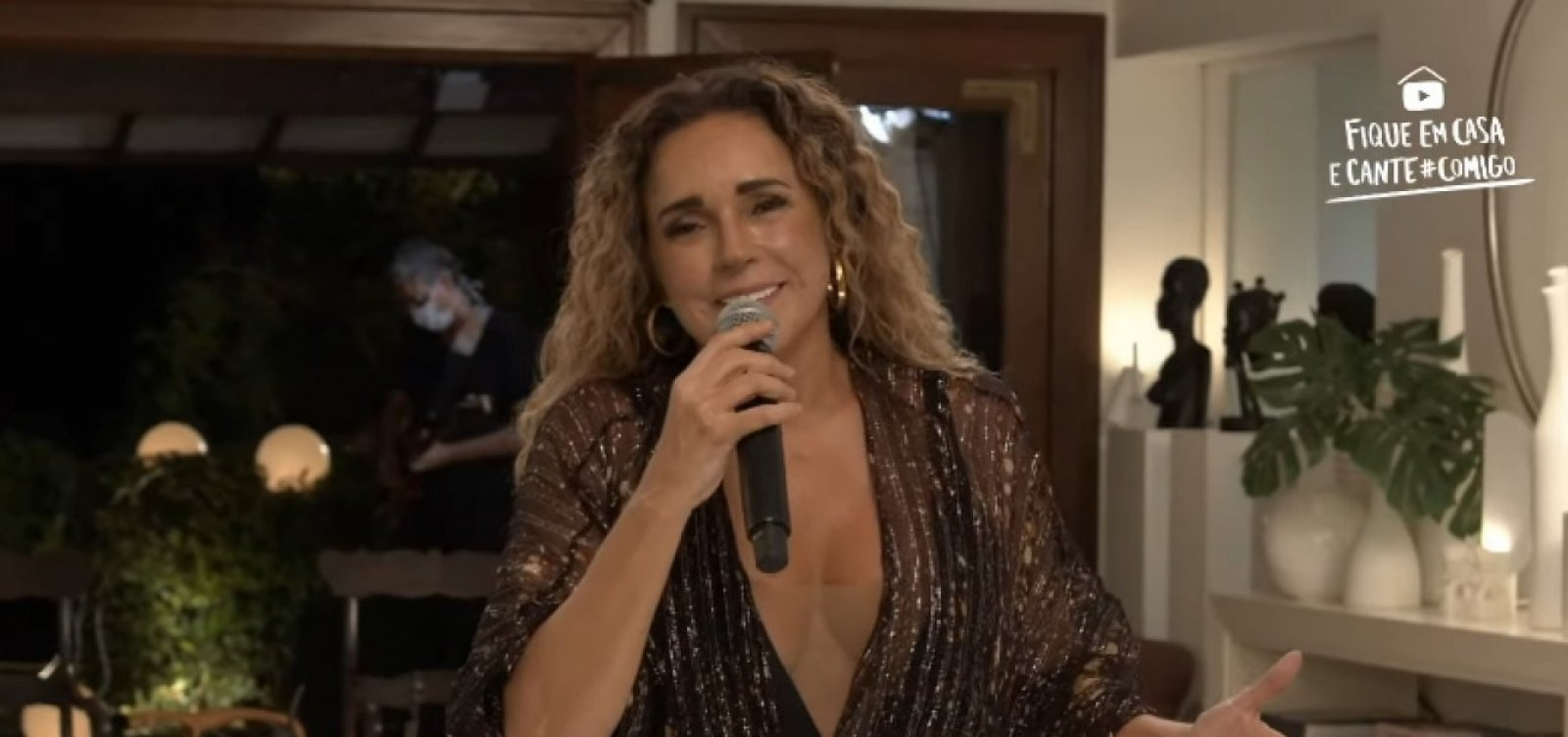 Daniela Mercury fará live de Carnaval