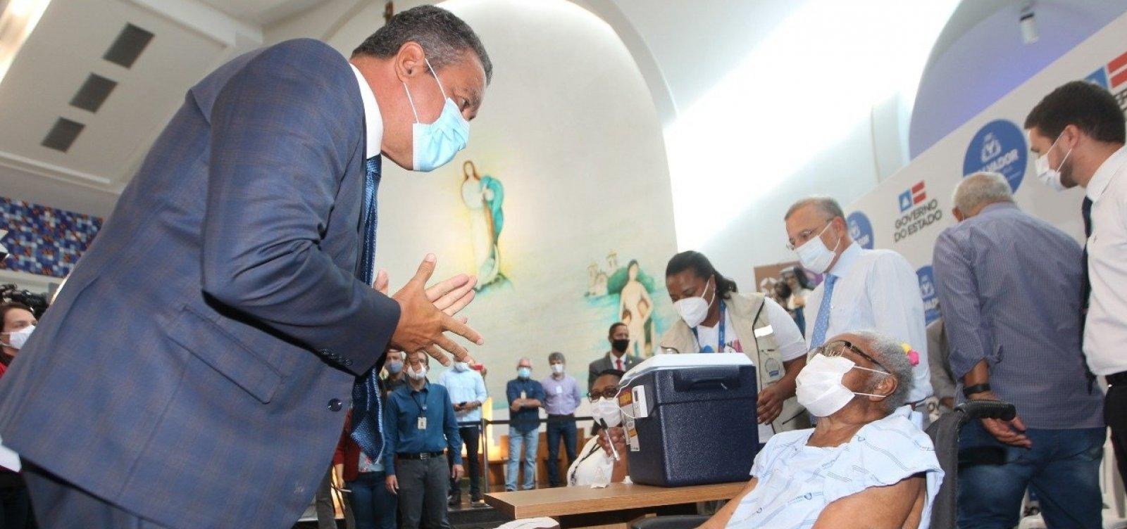 Rui diz que início de vacinação contra a Covid-19 é 'luz no fim do túnel' na Bahia