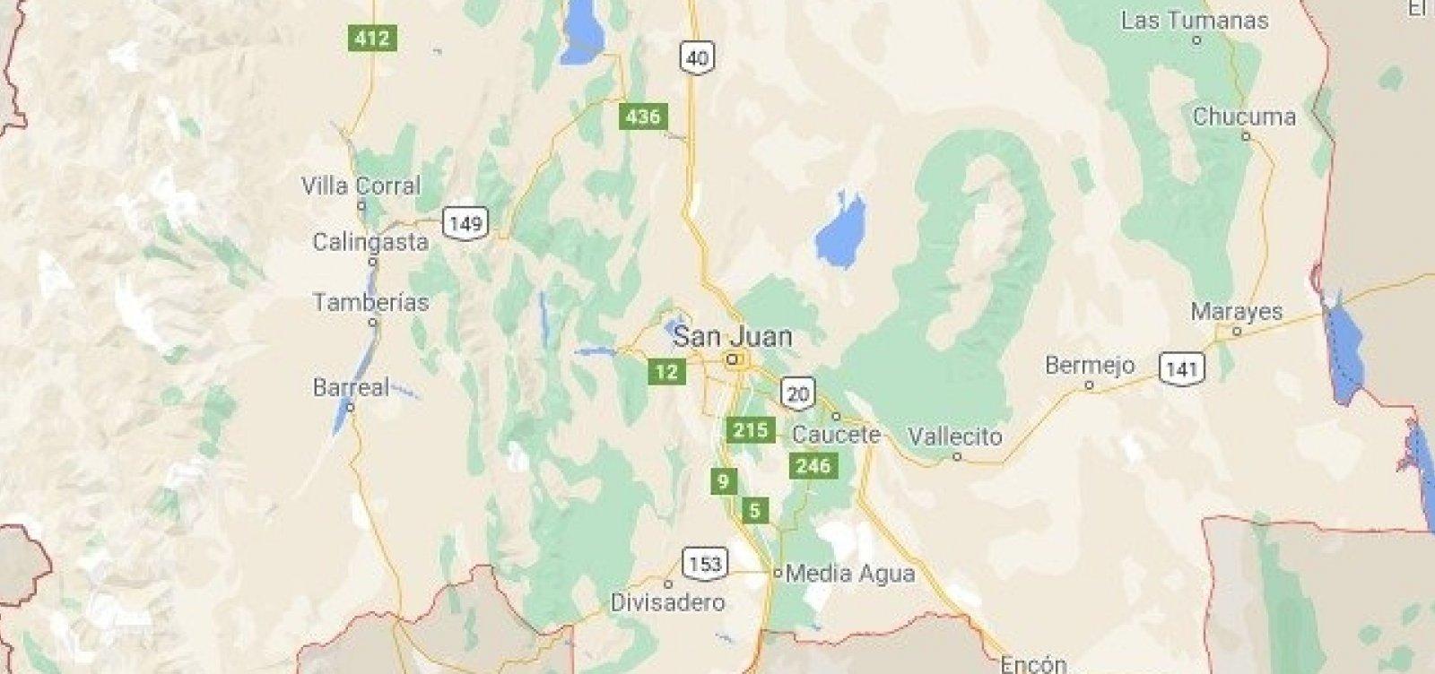 Argentina é atingida por 'maior terremoto dos últimos anos'