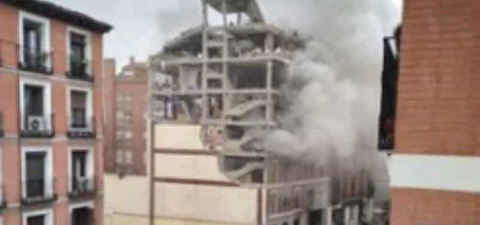 Explosão em Madri deixa ao menos três mortos