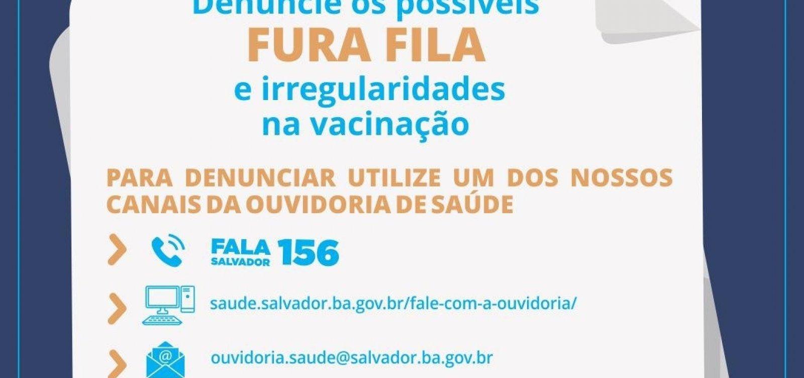 Salvador cria canal de denúncias sobre vacinação da Covid-19