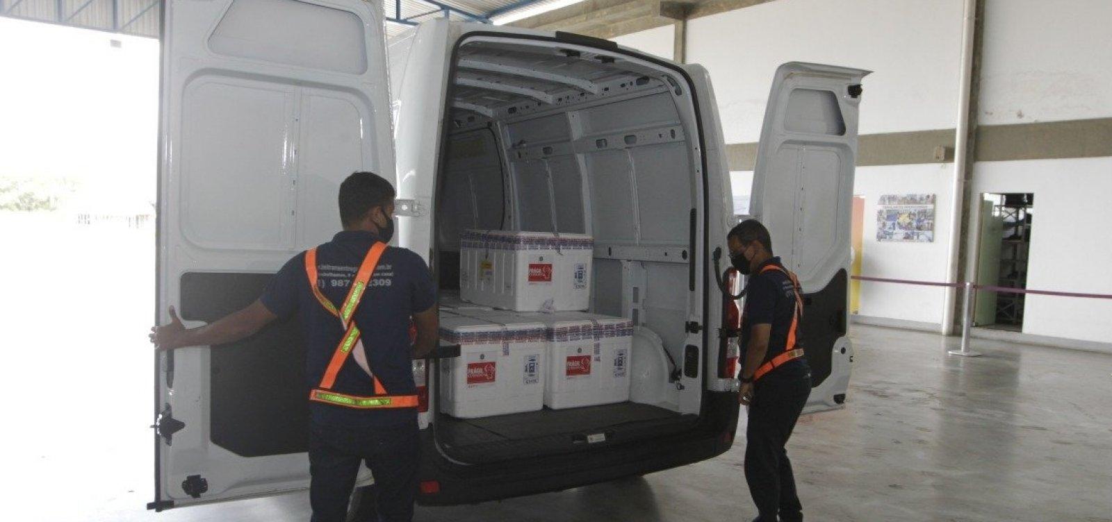 Bahia inicia distribuição de 119.500 novas doses de vacina contra Covid-19