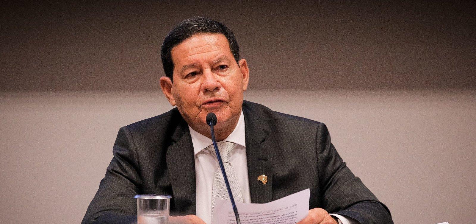 Mourão comenta notícias sobre gastos do governo com alimentos: 'pura fumaça'
