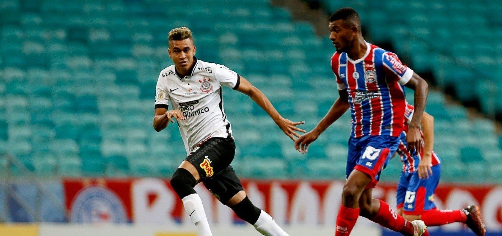 Bahia vence o Corinthians na Fonte Nova e respira fora do Z-4