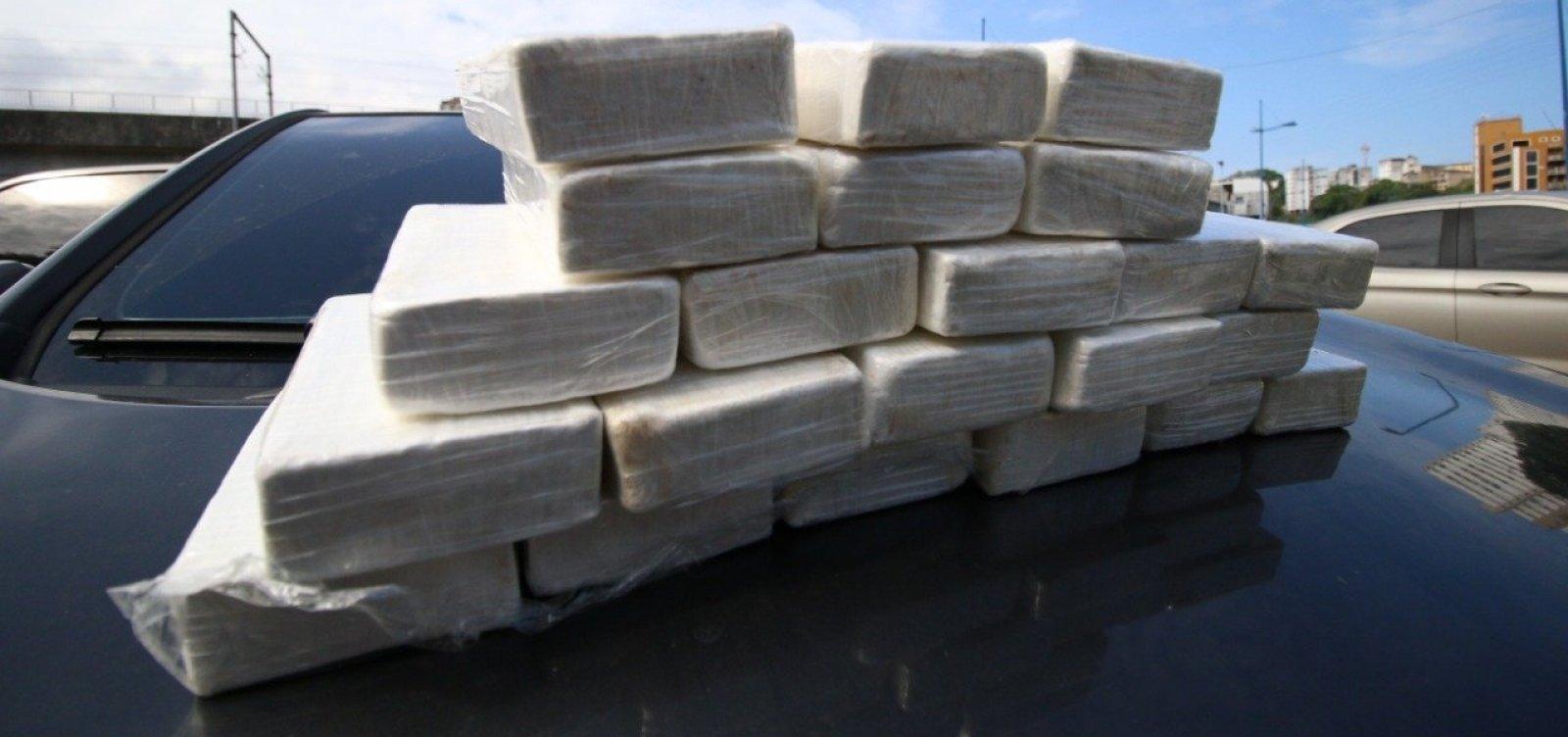 Apreensões de cocaína crescem 1.000% na Bahia
