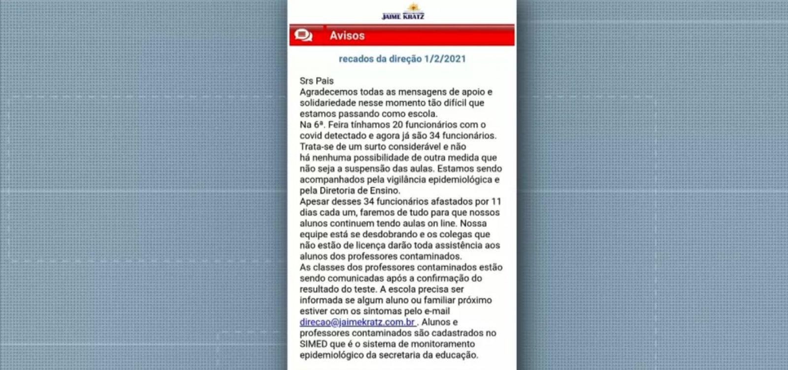 Após surto de coronavírus, escola particular de Campinas suspende aulas presenciais