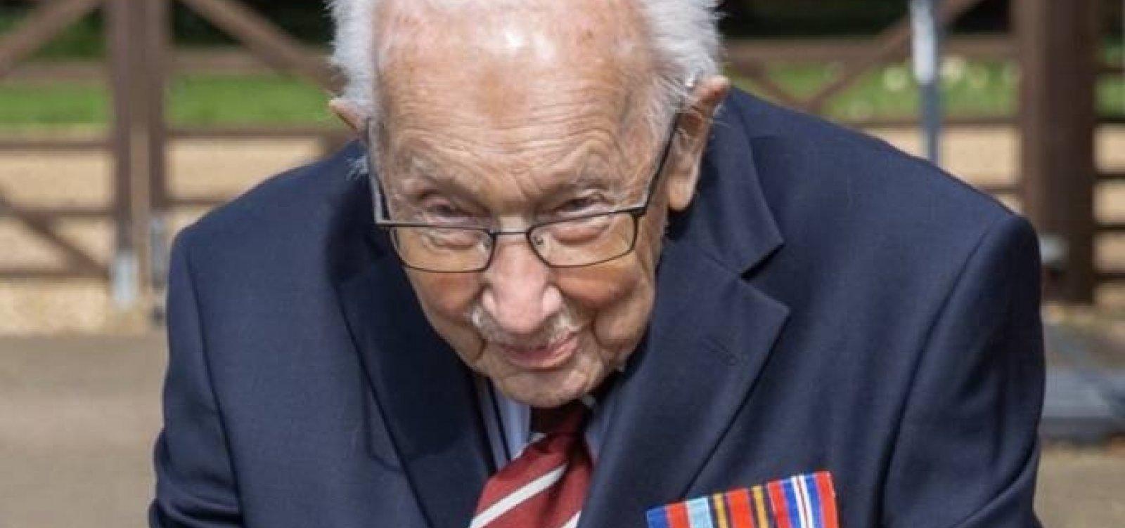 Morre por Covid-19 veterano da 2ª Guerra que arrecadou dinheiro para combate à pandemia