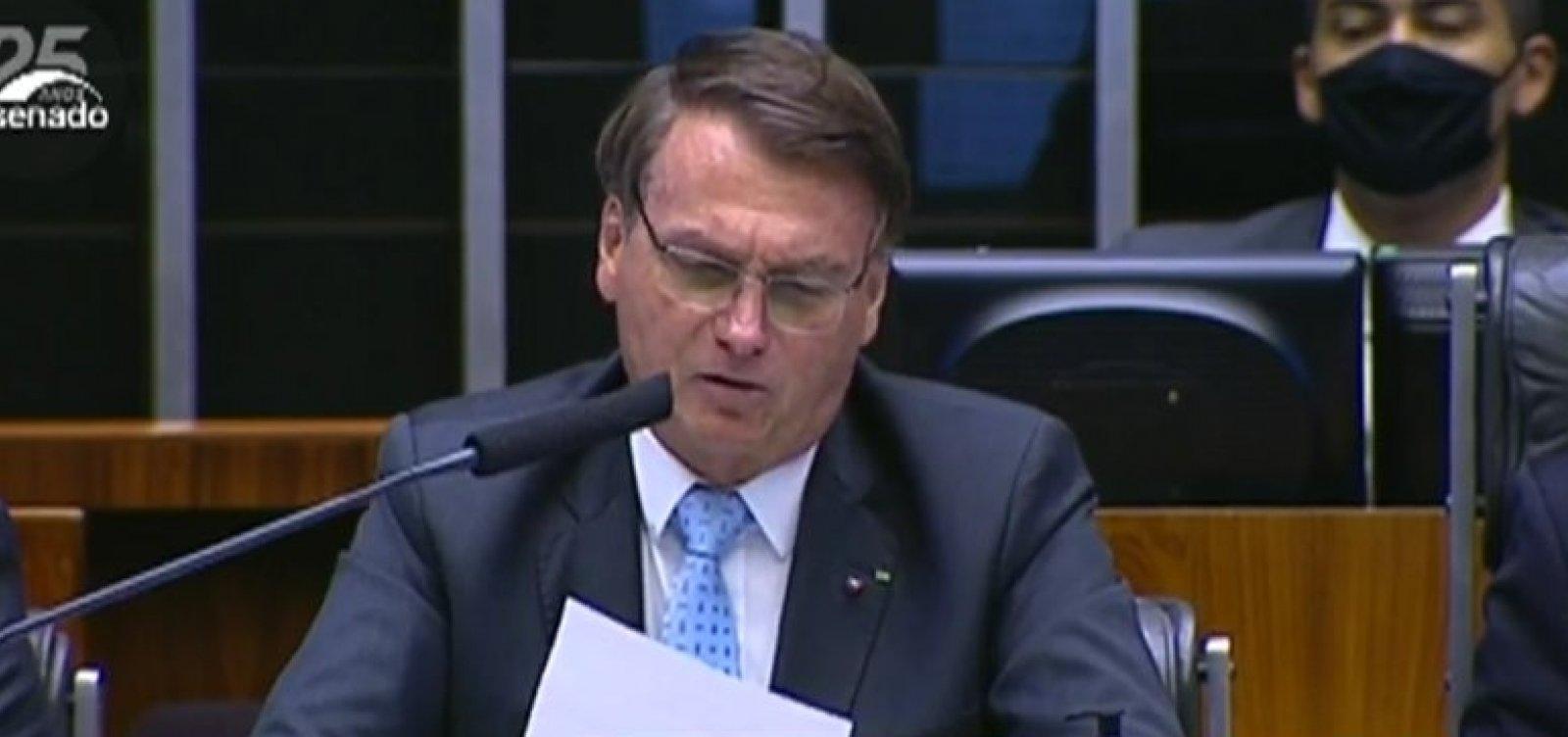 Chamado de genocida e fascista no Congresso, Bolsonaro responde: 'nos encontramos em 22'