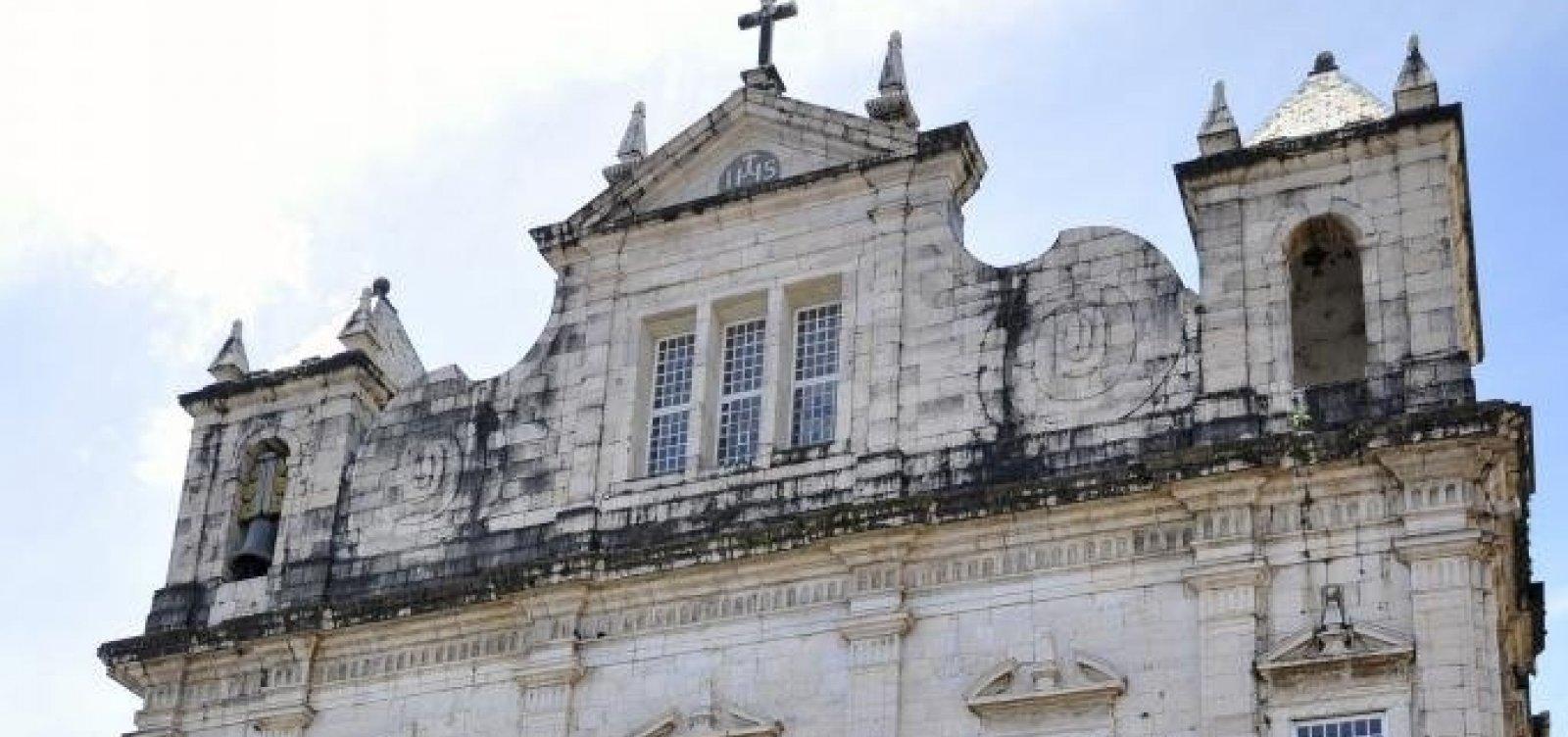 Sinos da Igreja Conceição da Praia serão reativados no próximo domingo