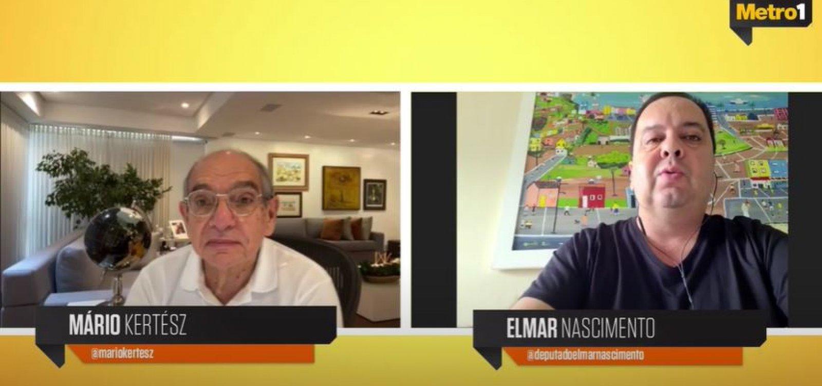Elmar critica posição de Maia nas eleições da Câmara: 'Se julgava no Olimpo'
