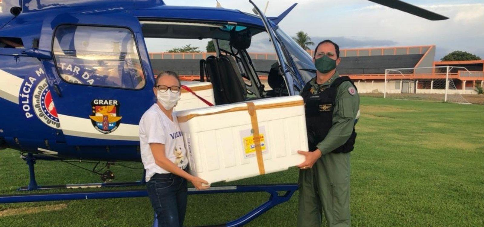 Vacinas contra Covid-19 são transportadas para 30 cidades na Bahia