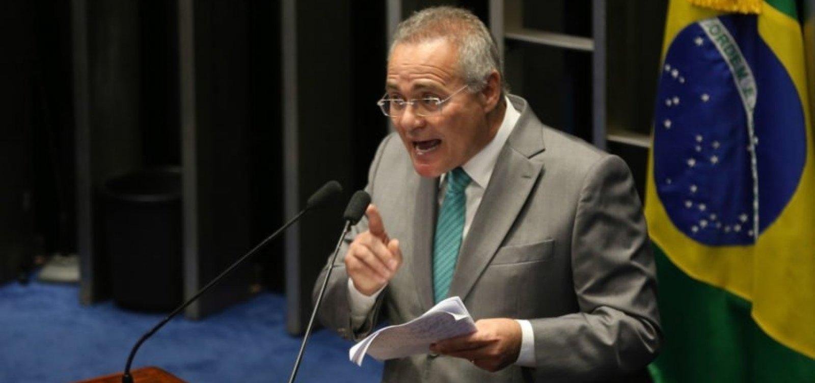 Renan Calheiros defende anistia de hackers que vazaram conversas de Moro na Operação Lava-Jato