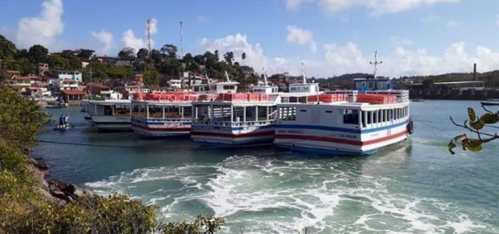 Travessia Salvador - Mar Grande opera com oito embarcações sem filas nos terminais