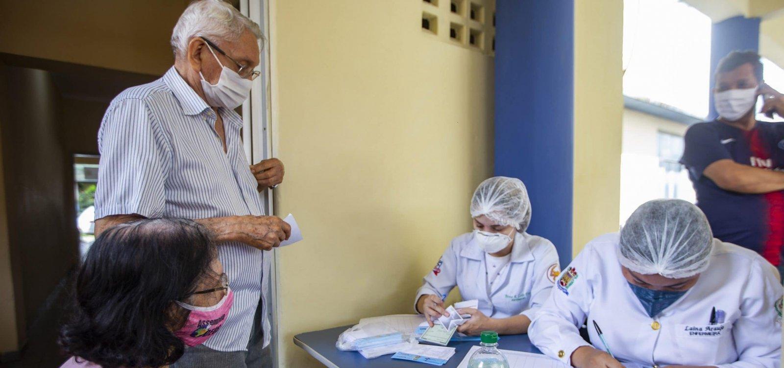 Bahia pode começar a vacinar idosos acima de 80 anos nesta segunda-feira