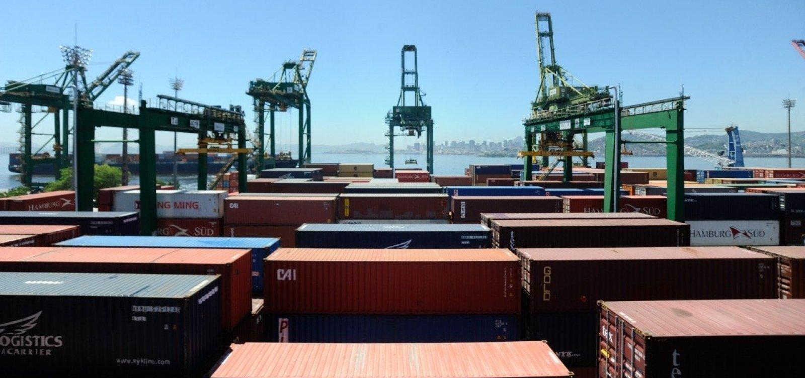 Balança comercial tem déficit de US$ 1,152 bilhões na primeira semana de fevereiro