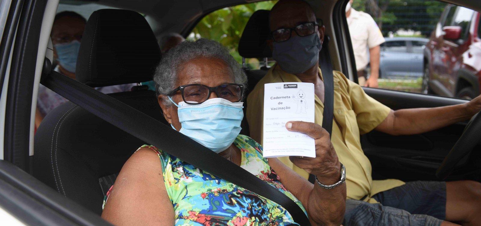 Salvador ultrapassa marca de 100 mil pessoas vacinadas contra a Covid-19