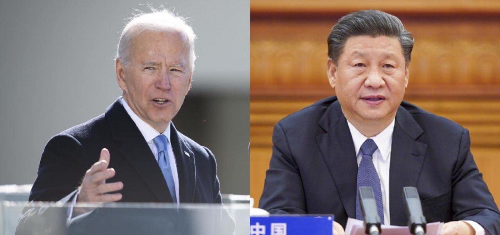Biden conversa pela primeira vez com presidente da China