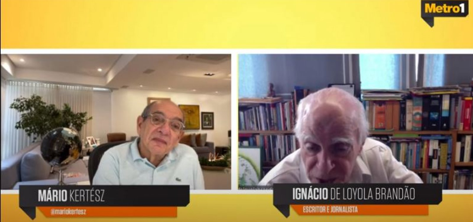 Ignácio de Loyola Brandão critica governo Bolsonaro por 'abandono total da população'