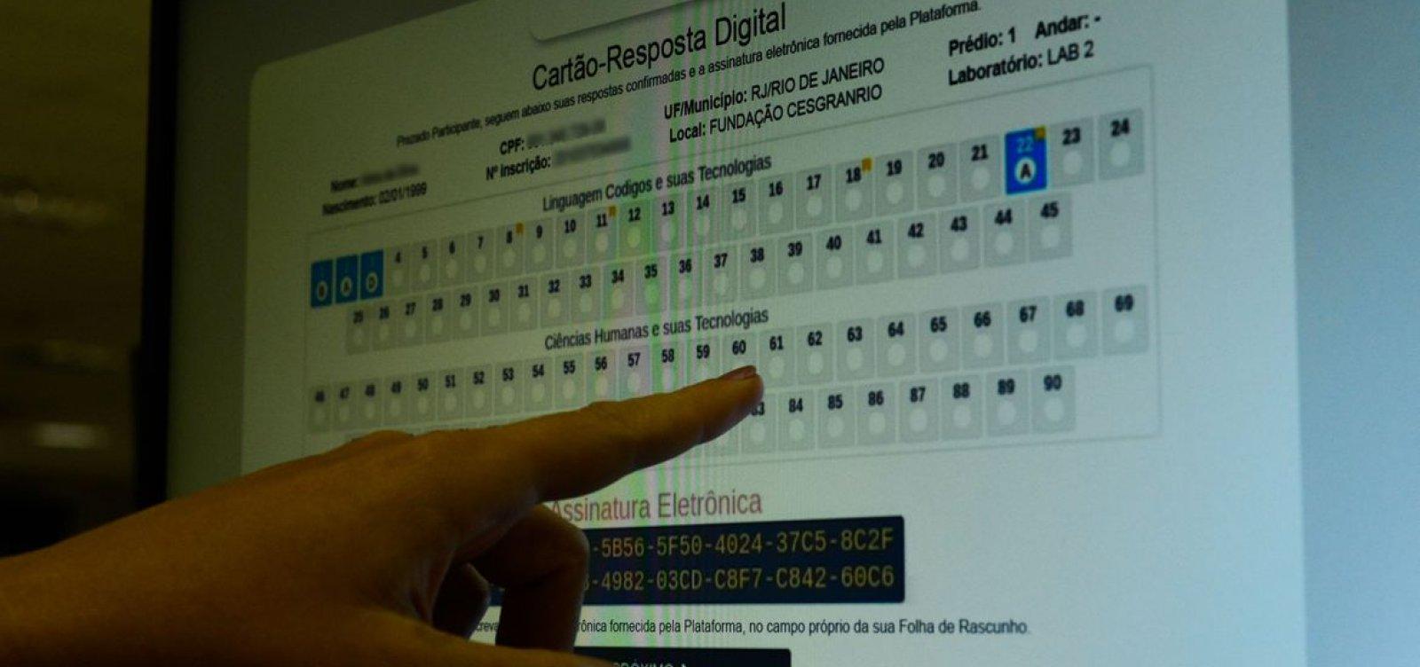 Prazo para pedir reaplicação do Enem digital termina nesta sexta