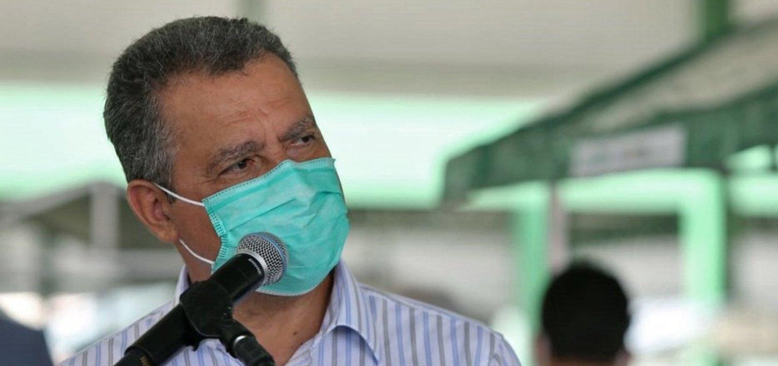 Bahia corre risco de ter colapso no sistema de saúde, afirma Rui Costa