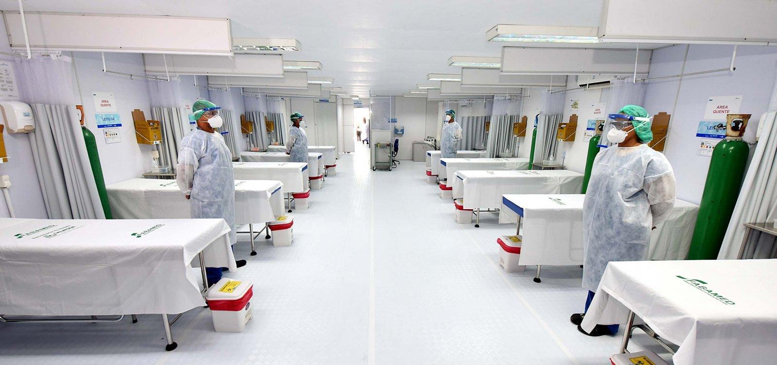 Nove hospitais registram 100% de ocupação de leitos para Covid-19 na Bahia