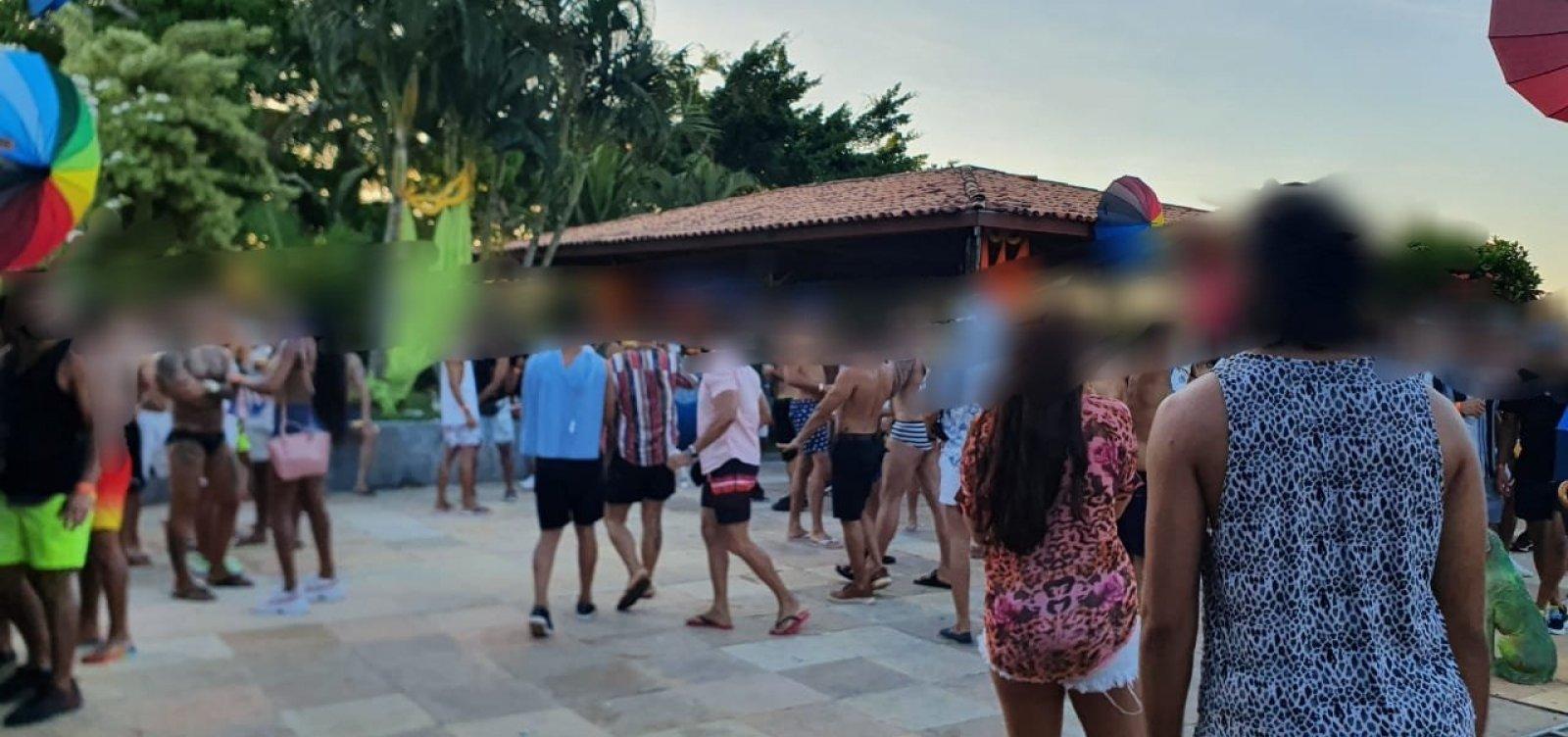 Polícia encerra evento com 100 pessoas em Lauro de Freitas