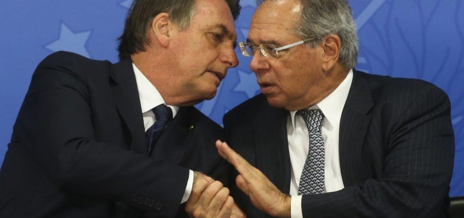 Bolsonaro indica a aliados que não deve desmembrar Ministério da Economia para evitar desgaste com Guedes