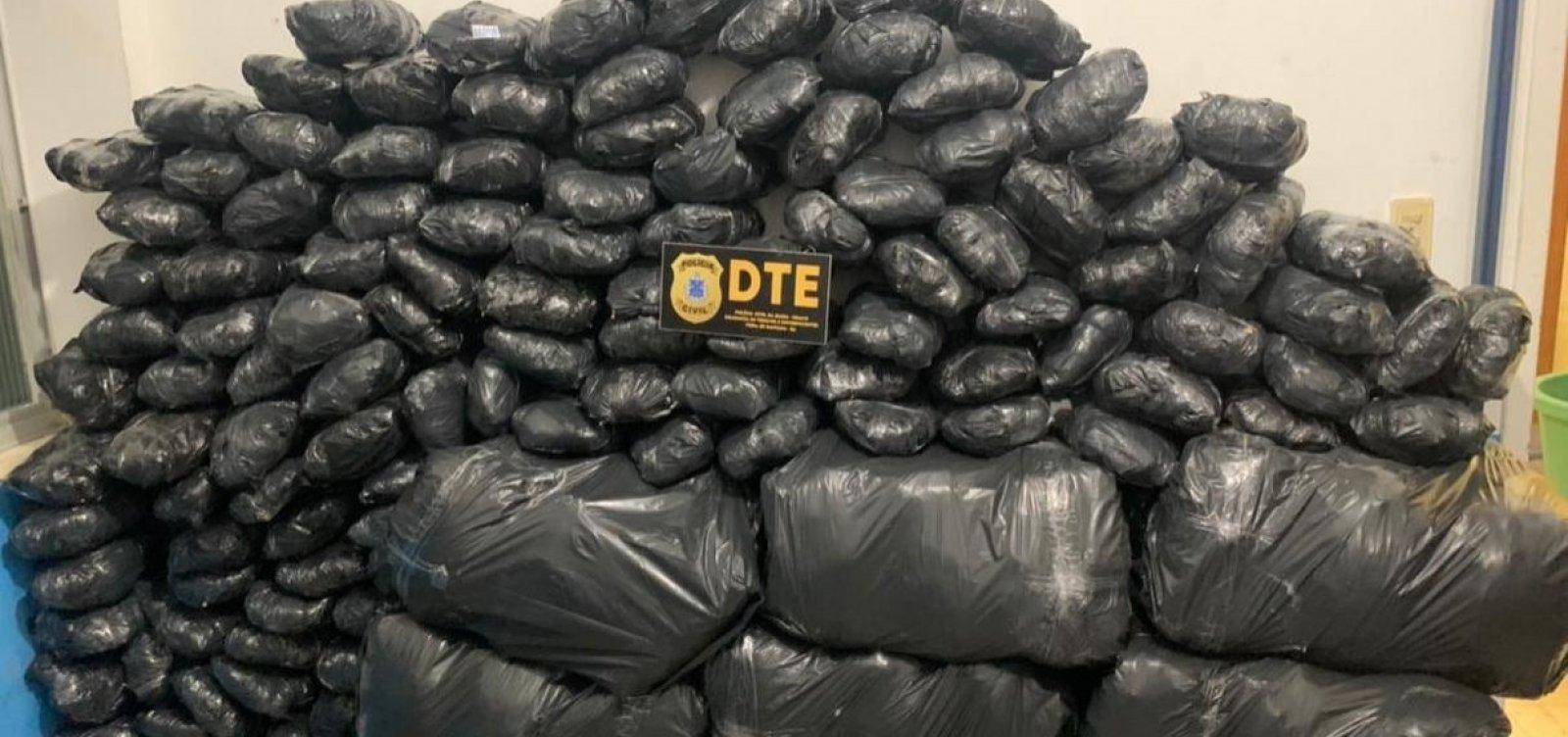 Operação da Polícia Civil em Feira de Santana apreende 300kg de maconha