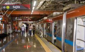 Metrô de Salvador tem parada inesperada de trem