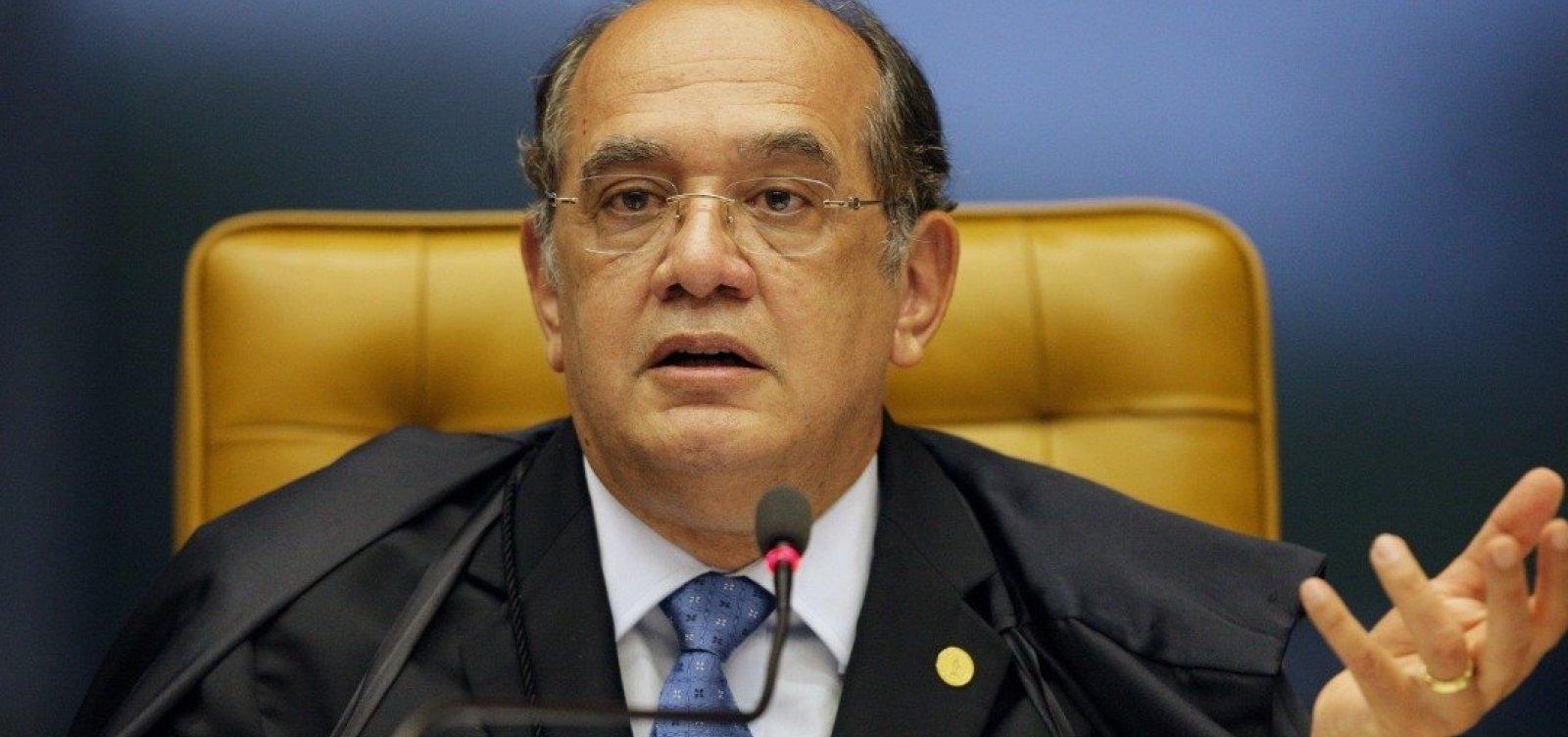 'Ditadura nunca mais', diz Gilmar Mendes após general comentar declaração de Fachin