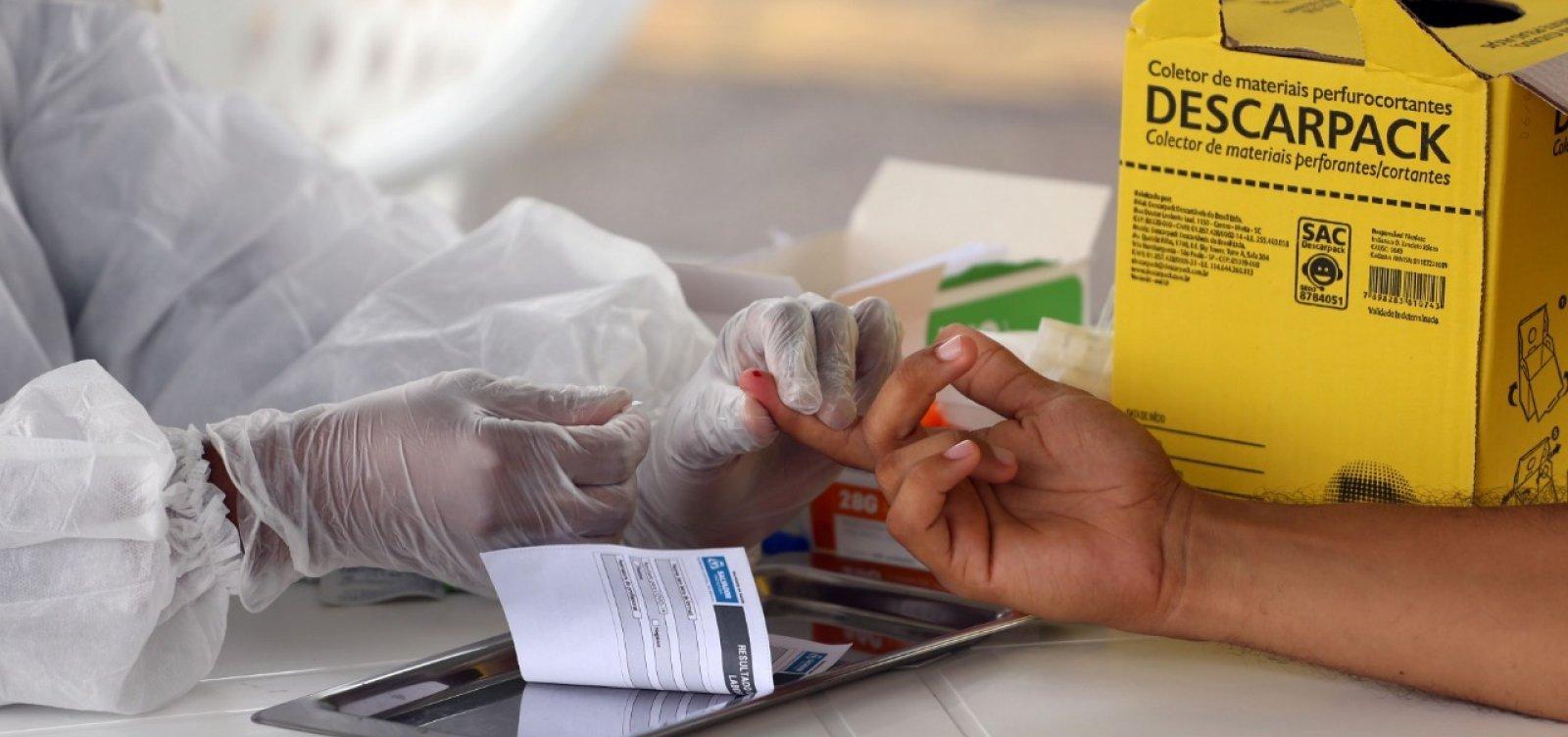 Testes rápidos identificam 202 casos de coronavírus em seis bairros de Salvador