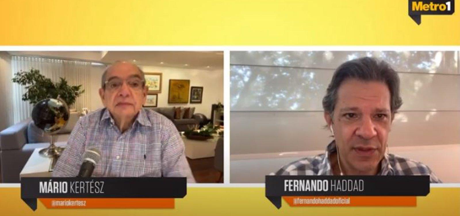 País está 'refém' de especuladores da Faria Lima, avalia Fernando Haddad
