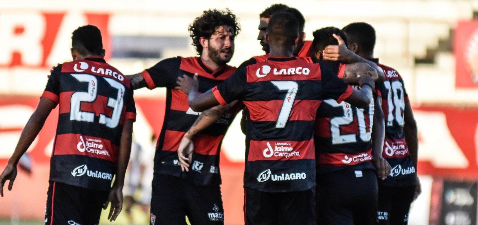 Vitória bate o Santa Cruz por 2 a 0 na estreia do Nordestão 2021