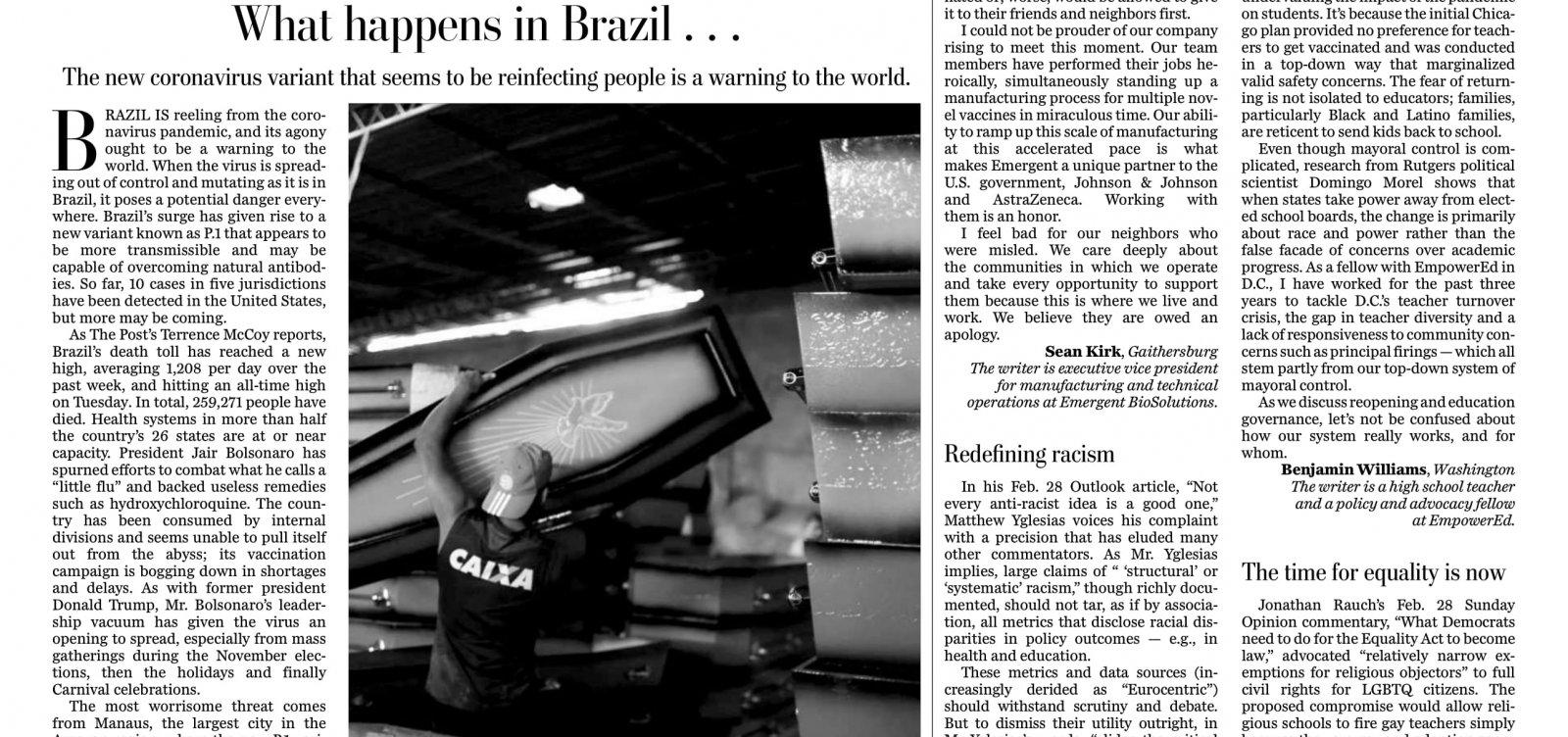 Covid-19 no Brasil: New York Times, The Guardian e Washington Post repercutem crise do país; veja manchetes