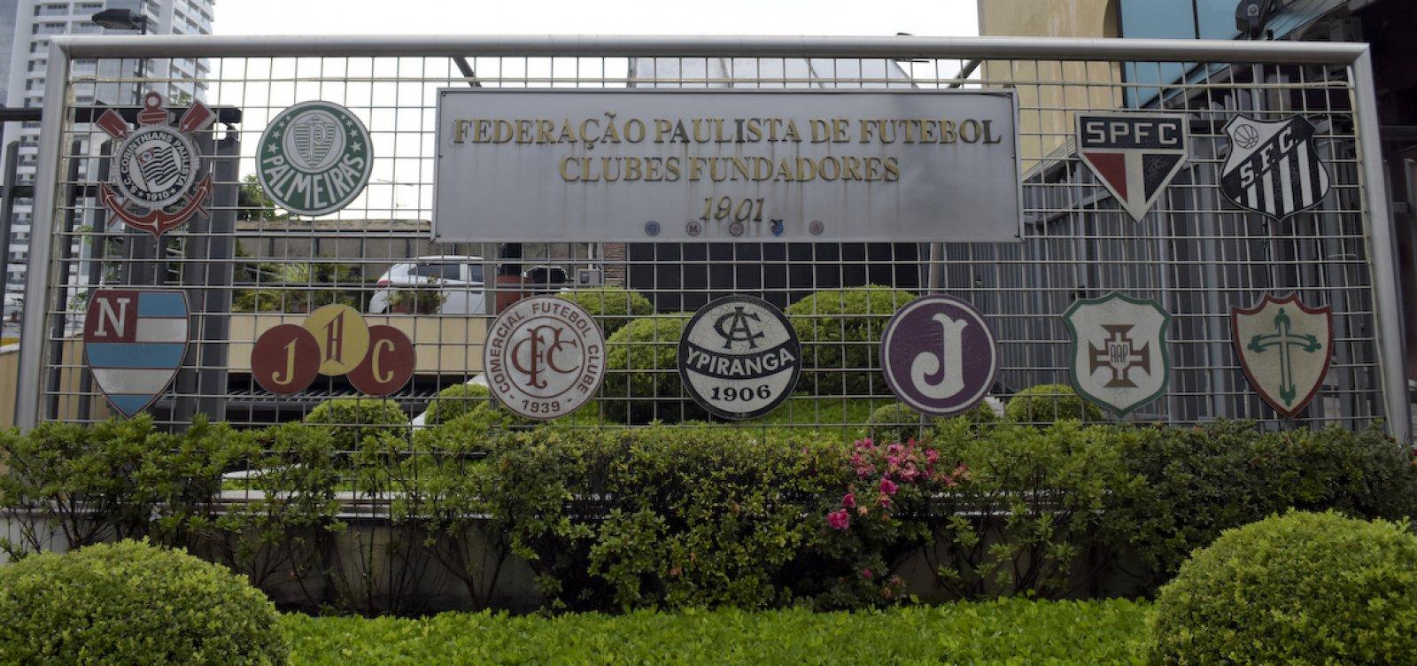 Governo de SP decide paralisar Campeonato Paulista devido à Covid