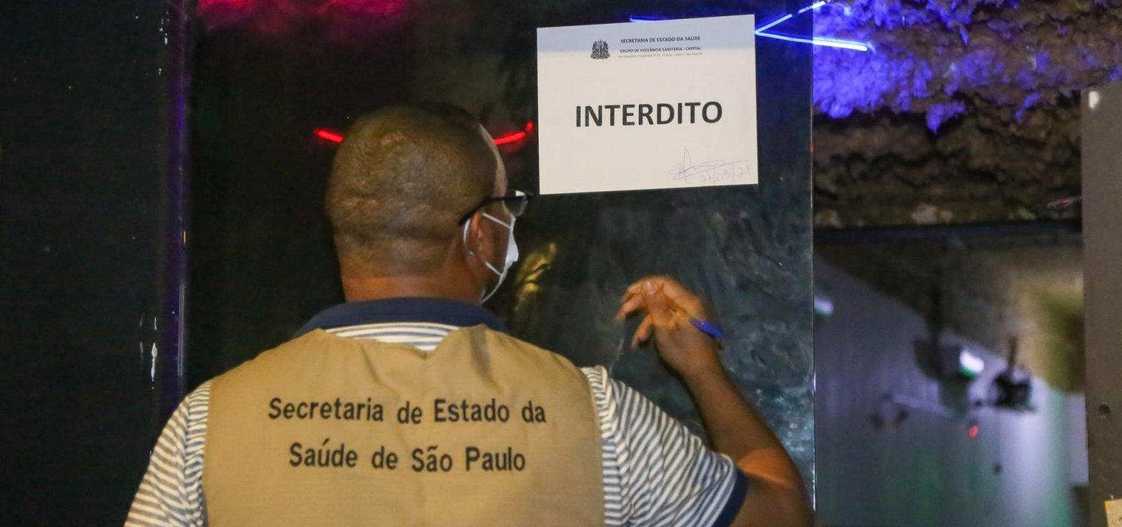 Polícia interrompe festa clandestina na Zona Sul de SP