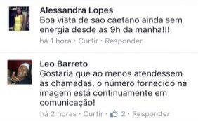 Pelo Facebook, internautas reclamam com a Coelba por falta de luz em Salvador