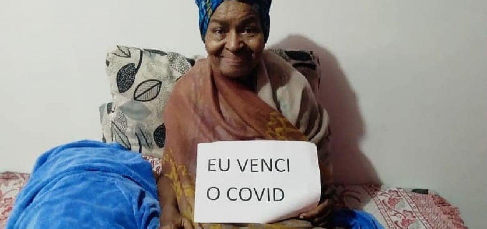 Em casa, Alaíde do Feijão celebra: 'Eu venci o Covid'