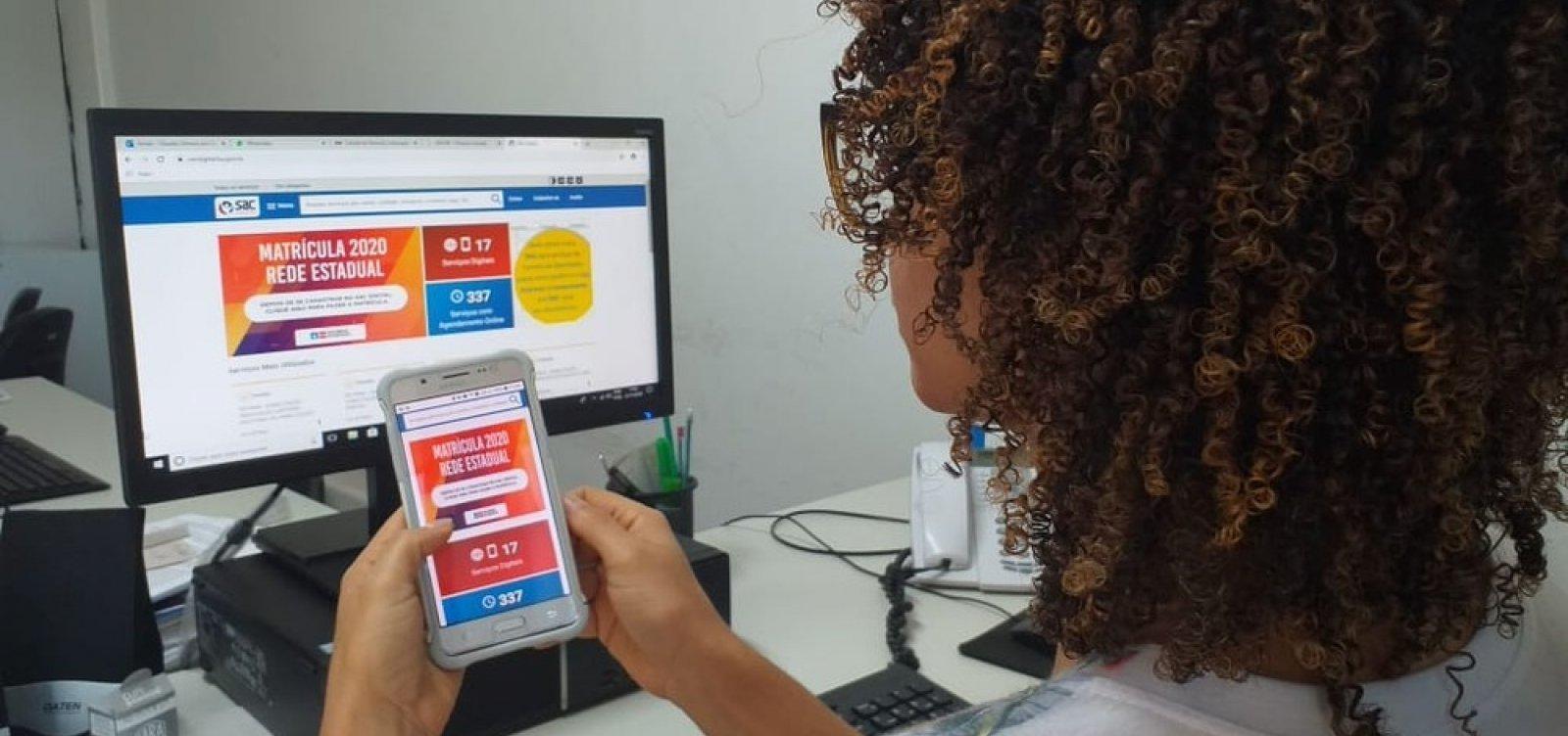 Matrícula na rede estadual: nova etapa abrange Salvador e outras 29 cidades