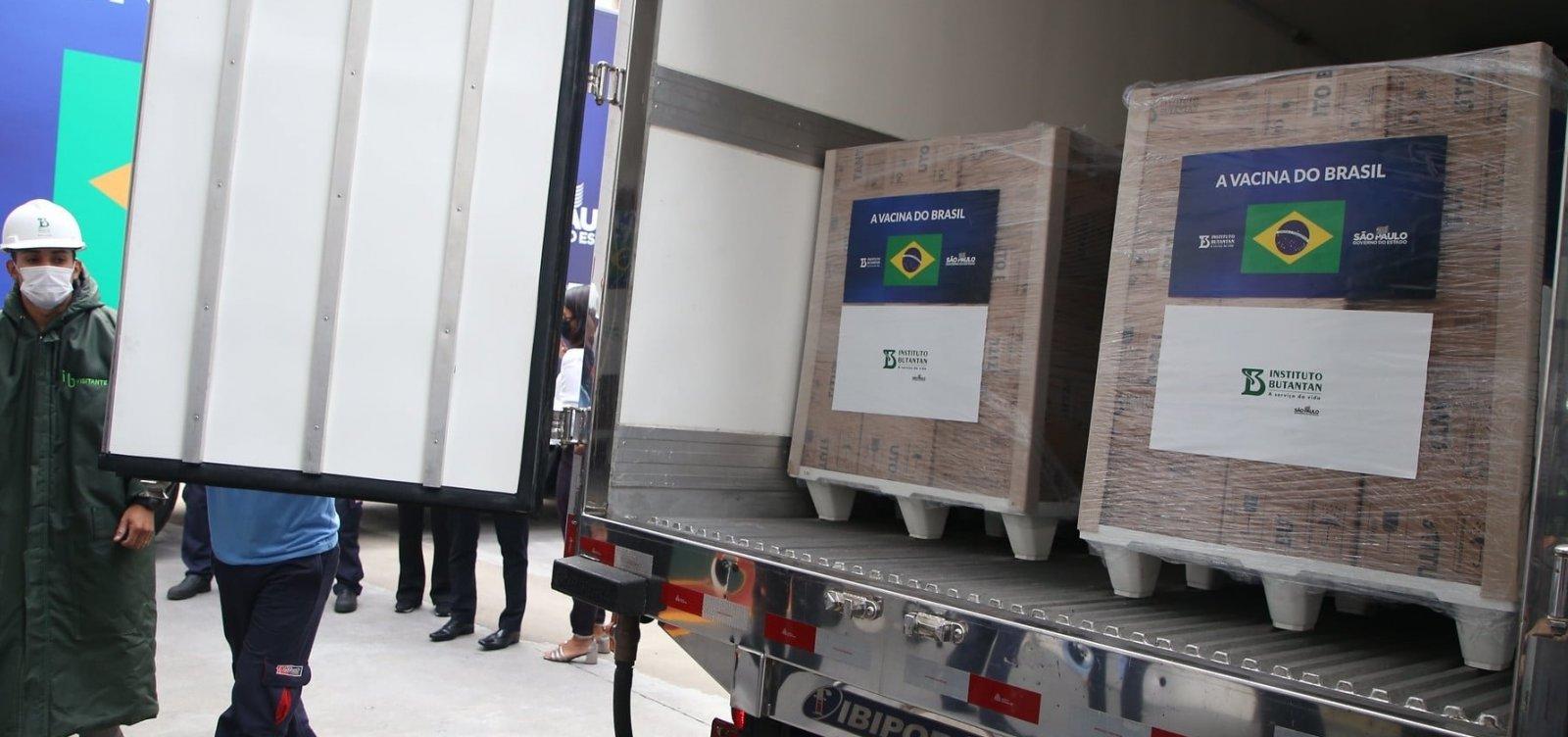 Butantan entrega mais 1,5 milhão de doses da Coronavac ao Ministério da Saúde